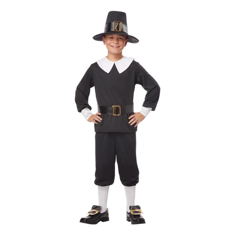 Pilgrim Pojke Barn Maskeraddräkt - Small