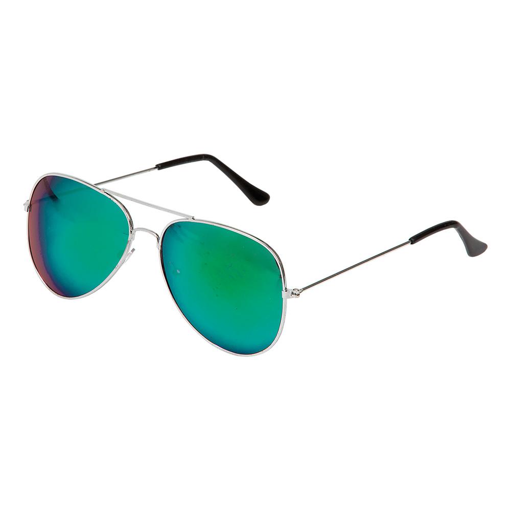 Pilotglasögon Spegelglas Grön