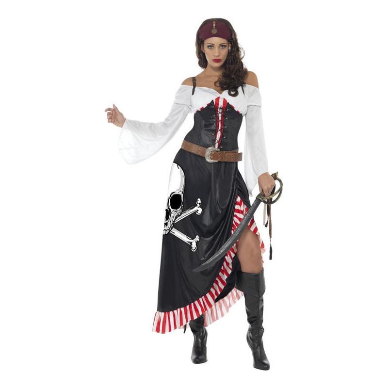 Piratdam Maskeraddräkt - Small