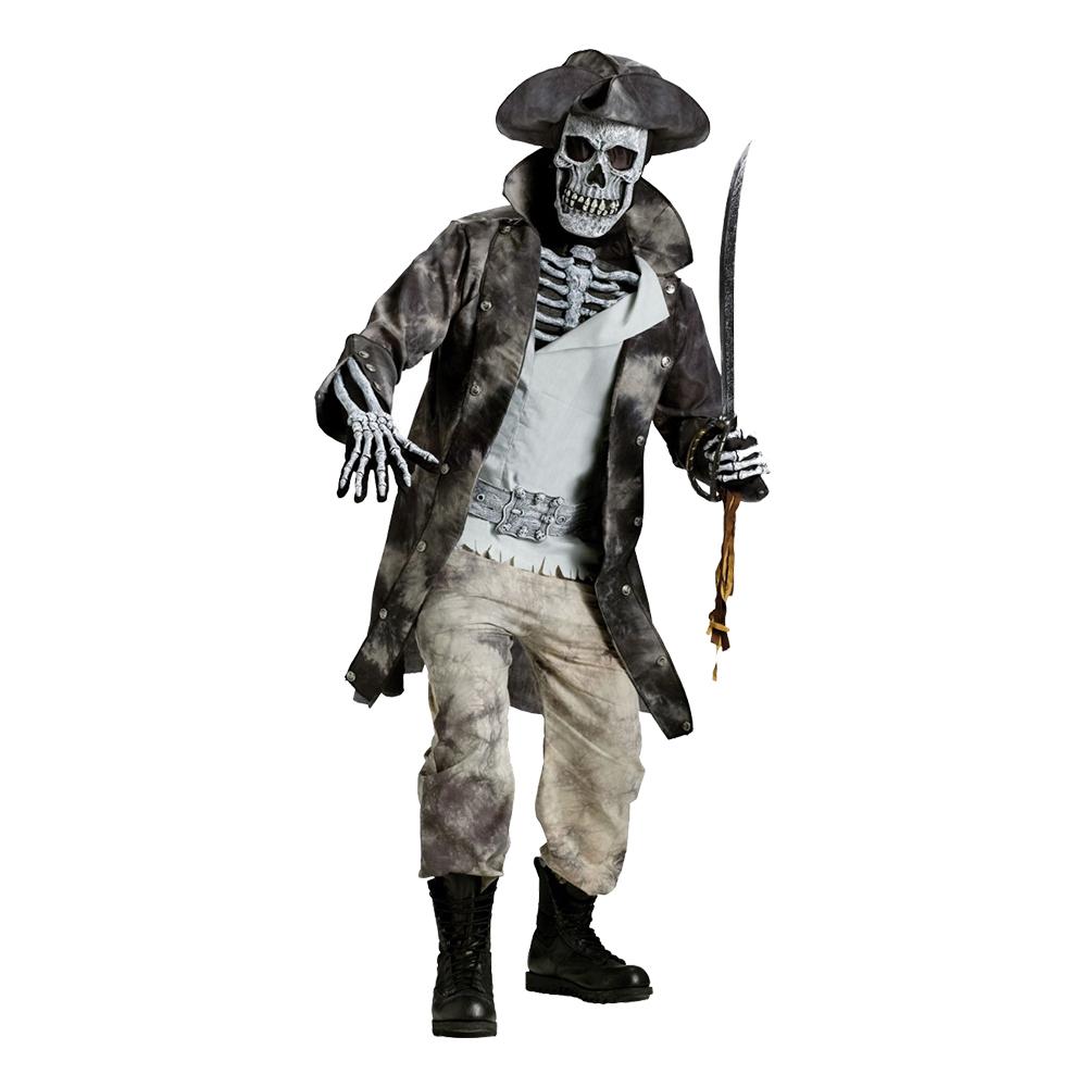 Pirat Skelett Maskeraddräkt - One size