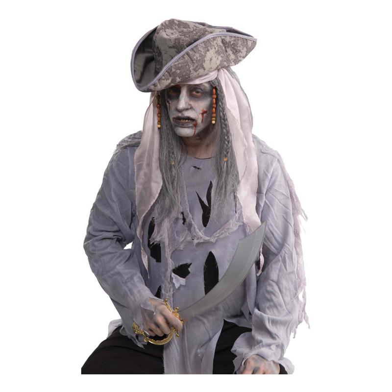 Zombie Pirat Peruk - One size