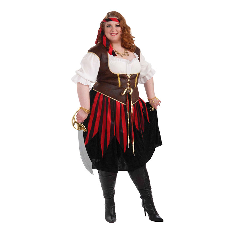Piratdam Plus-size Maskeraddräkt - Plus size