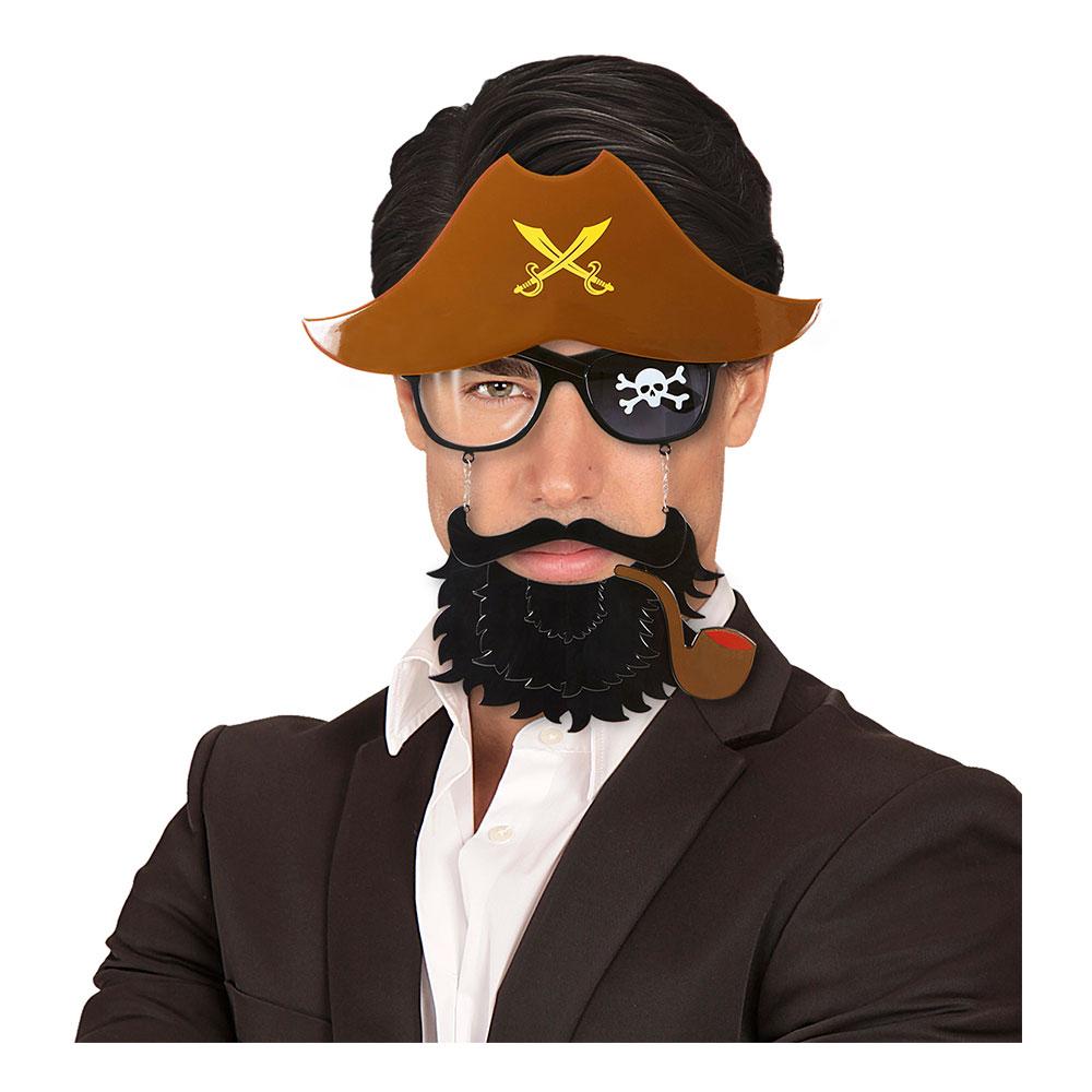 Piratglasögon med Skägg - One size