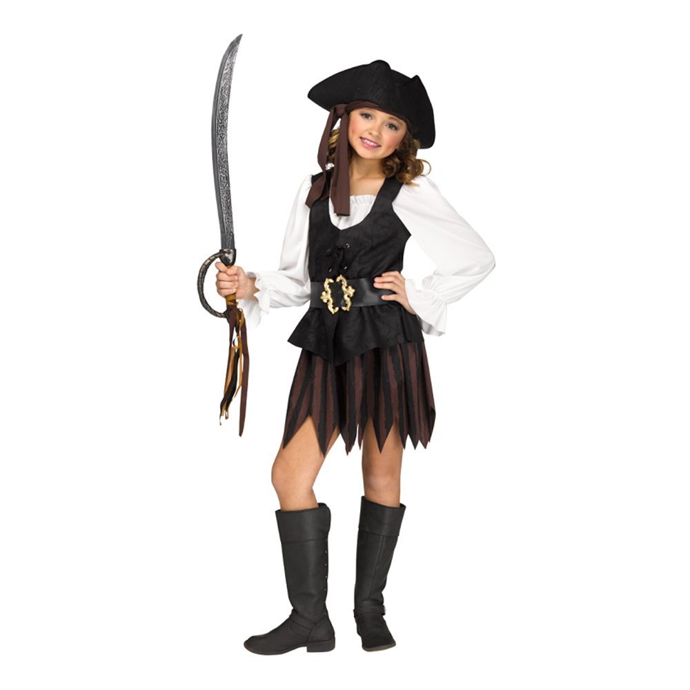 Piratklänning Rustik Barn Maskeraddräkt - Small