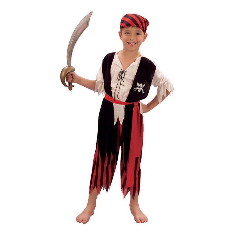 Piratpojke Barn Maskeraddräkt - Small