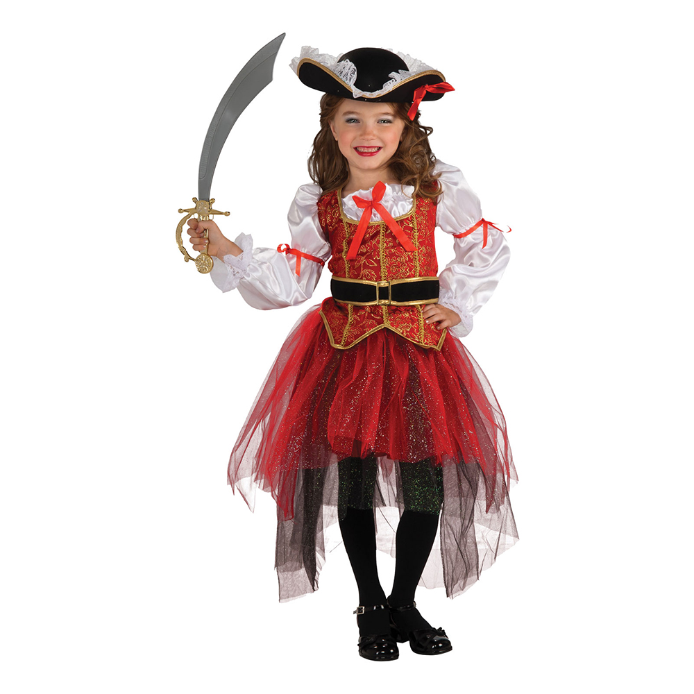 Piratprinsessa Barn Maskeraddräkt - Small