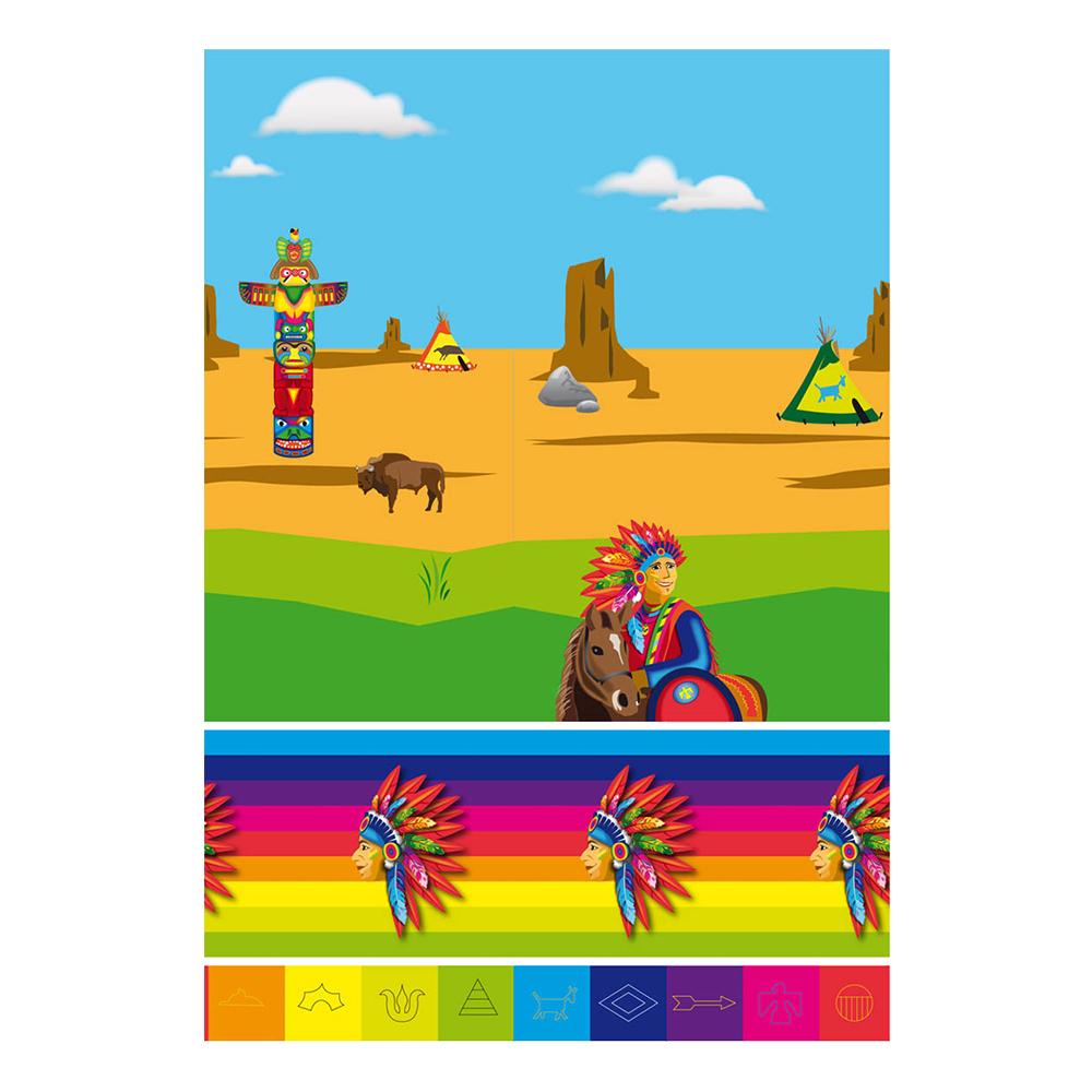 Plastduk Indianer - 130x180cm