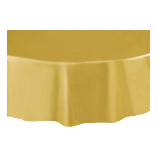 Plastduk Rund Guld