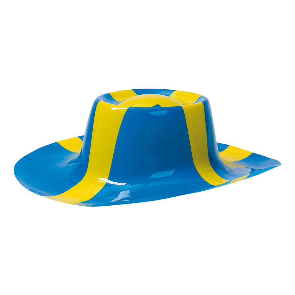 Plasthatt Sverigeflagga - One size