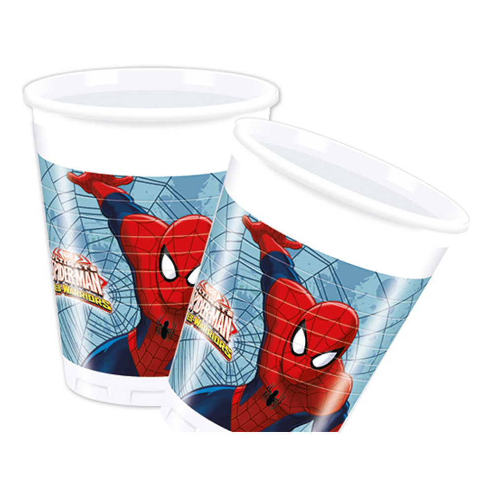 Plastmugg Spiderman - 8-pack
