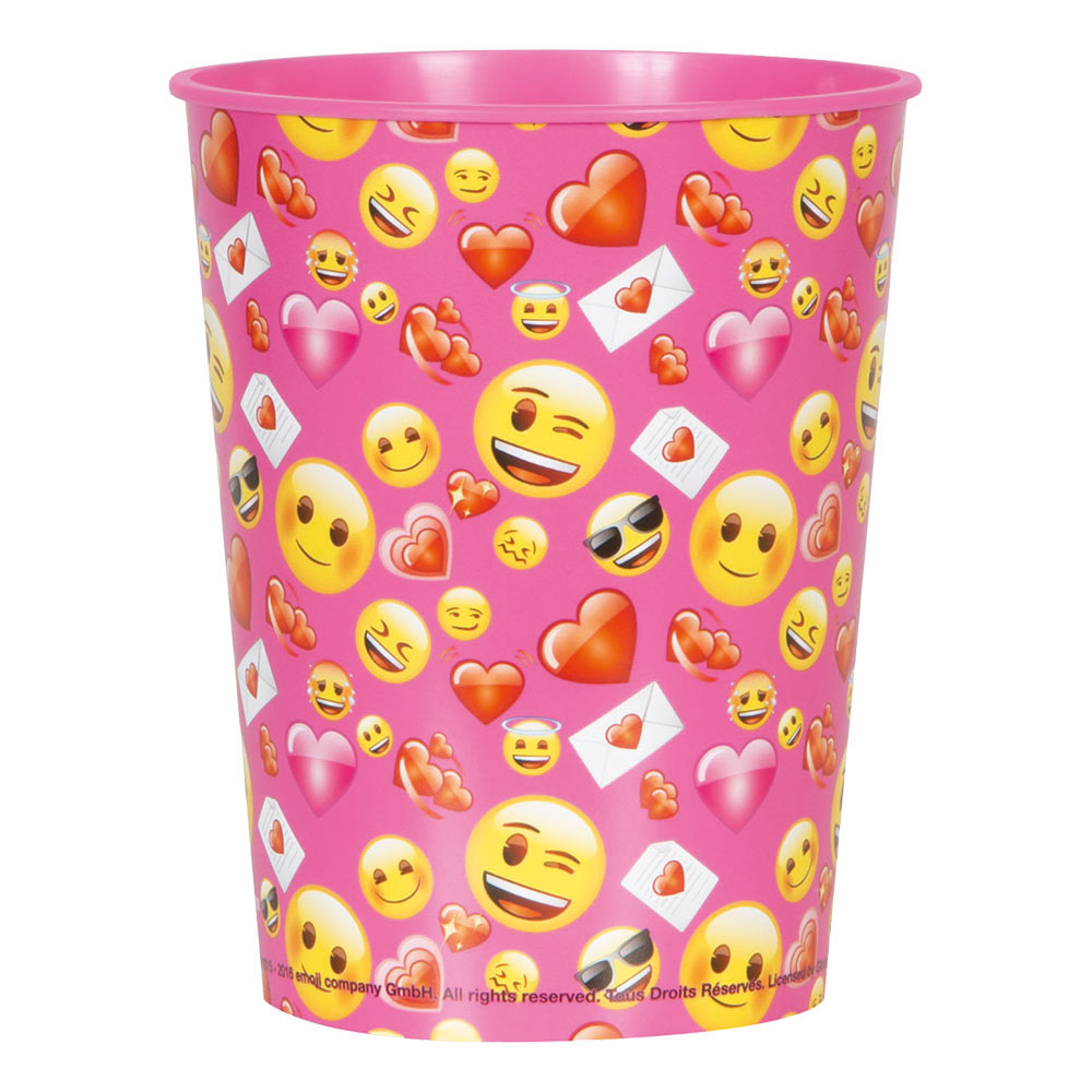 Plastmugg Emoji Alla Hjärtans Dag