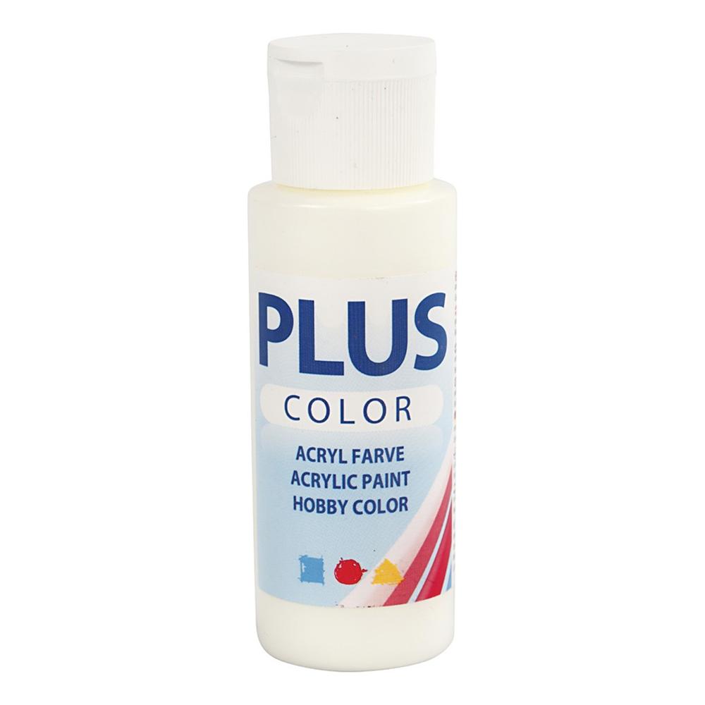 Plus Color Hobbyfärg - Mattvit