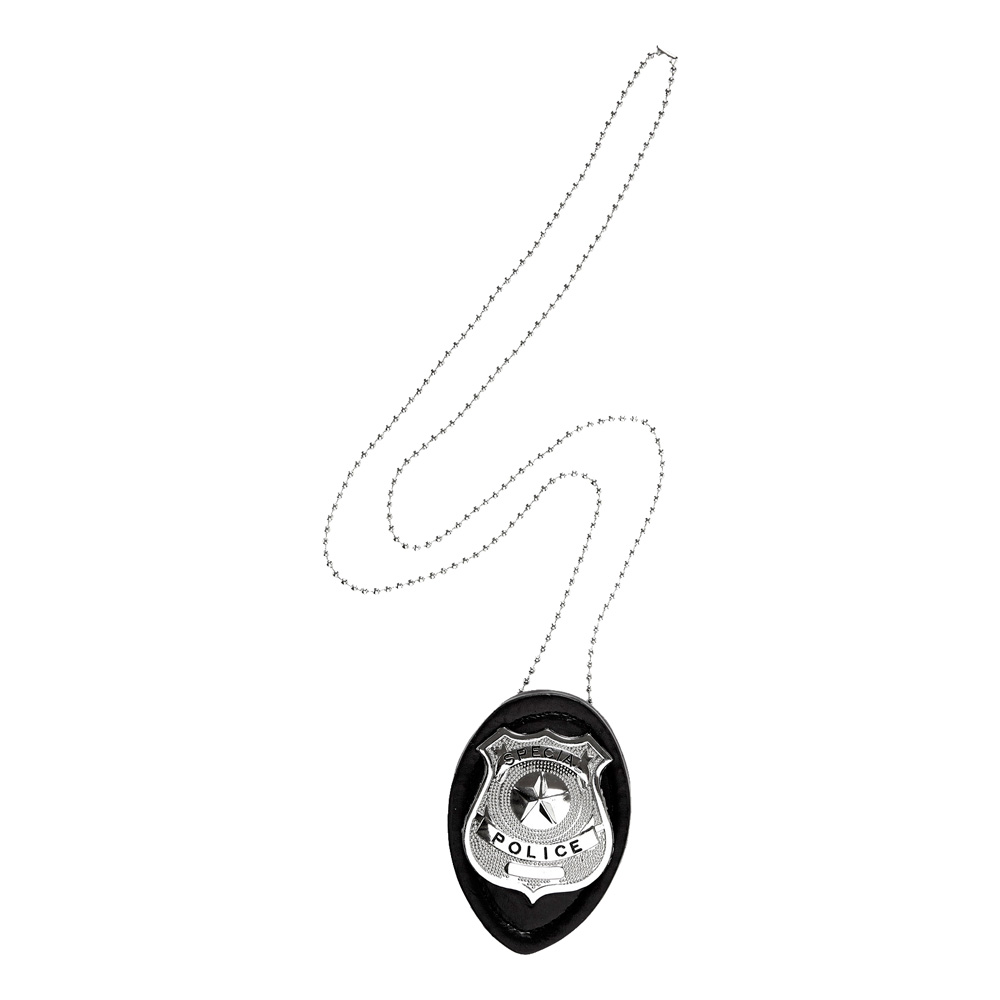 Polisbricka Halsband med Clip