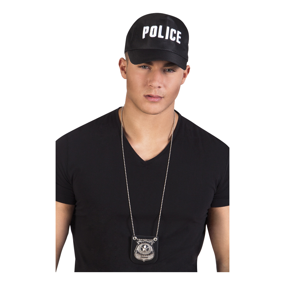 Polisbricka i Halsband
