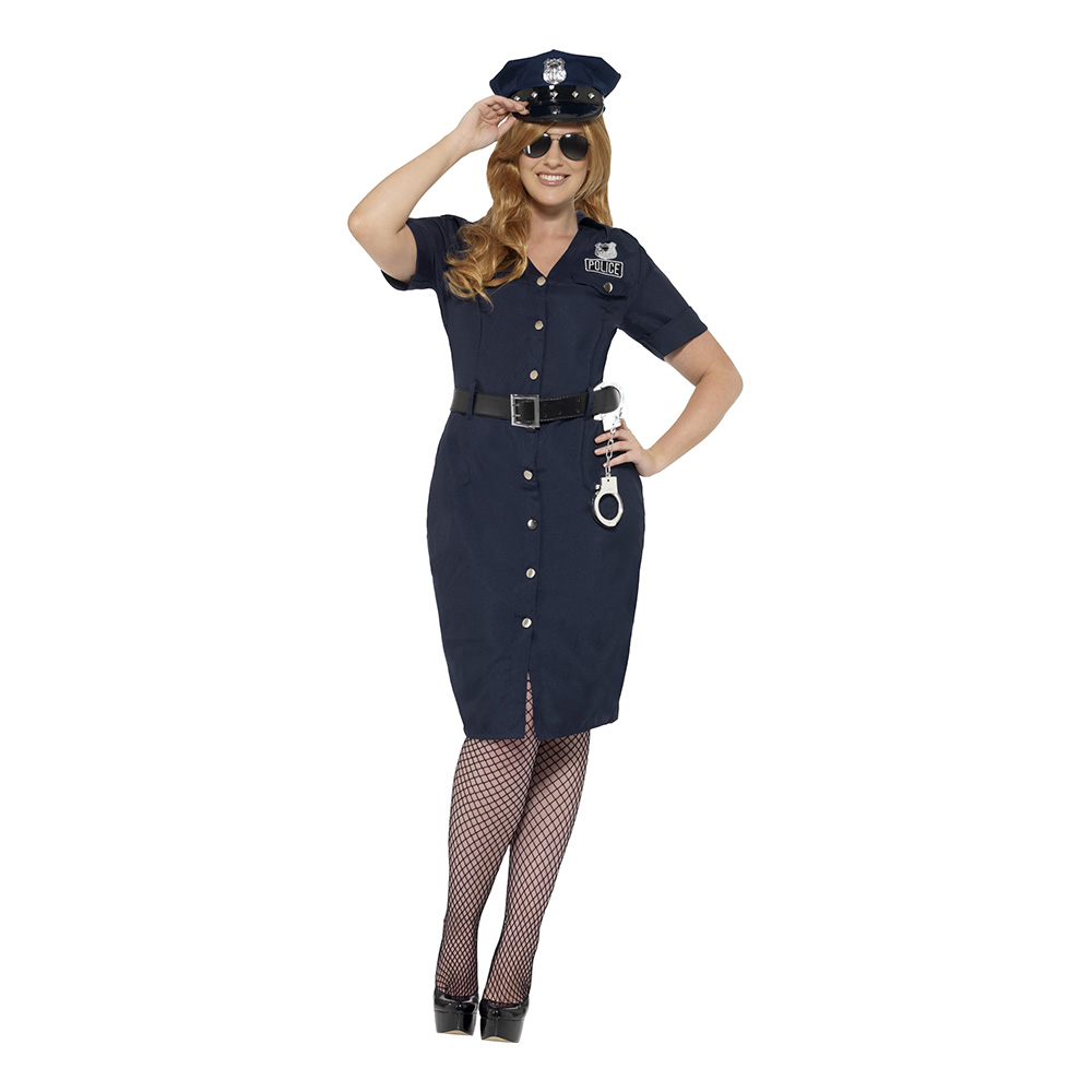 New York Poliskvinna Plus-Size Maskeraddräkt - XX-Large