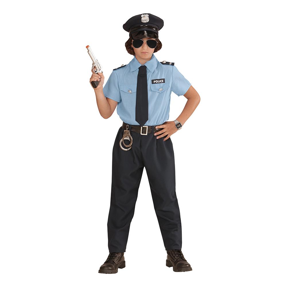 Polisofficer Pojke Barn Maskeraddräkt - Small