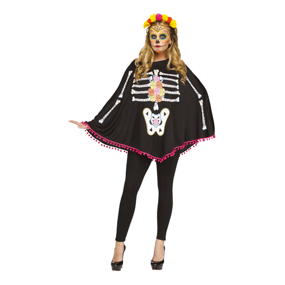 Poncho Day of the Dead - One size