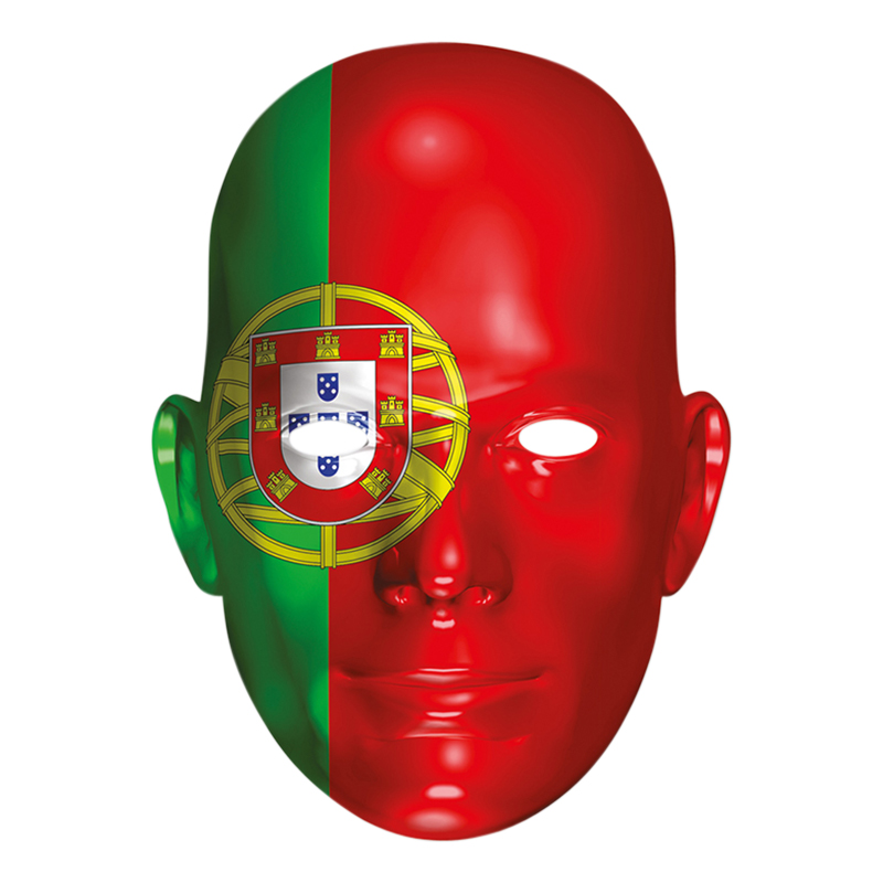 Portugals Flagga Pappmask