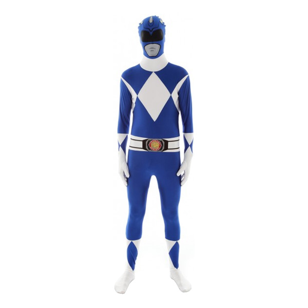 Power Ranger Blå Morphsuit - Large