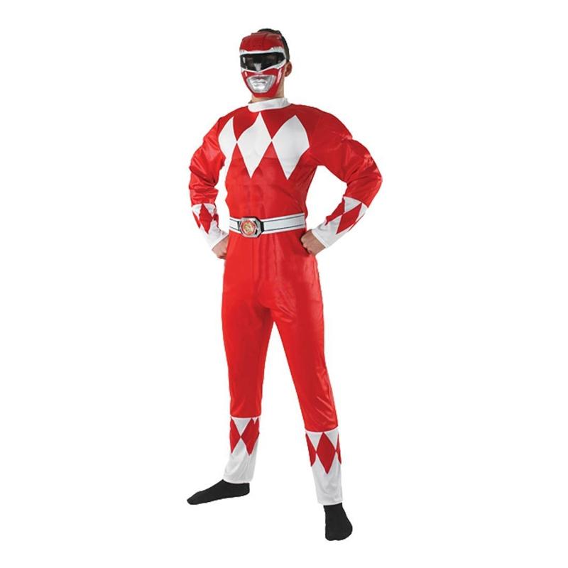 Power Ranger Maskeraddräkt - Standard