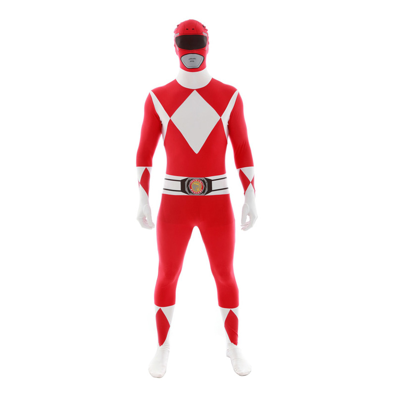 Power Ranger Röd Morphsuit - Large