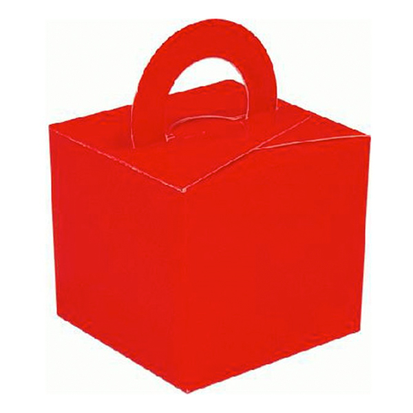 Ballongvikt Presentbox av Papp Röd - 10-pack