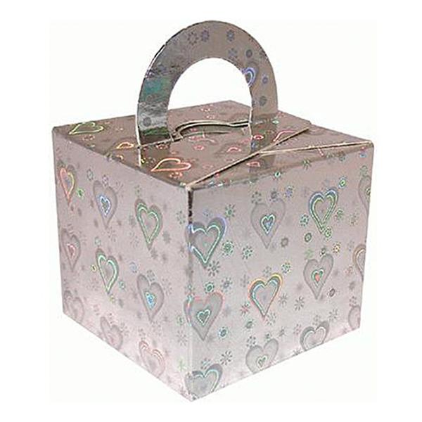 Ballongvikt Presentbox Silver Holografiska - 10-pack