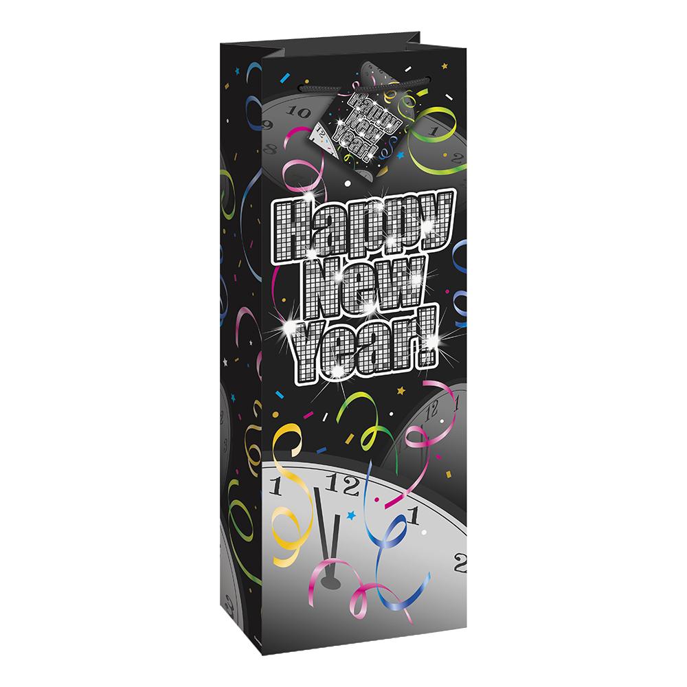 Presentpåse Flaska Nyår Glitter