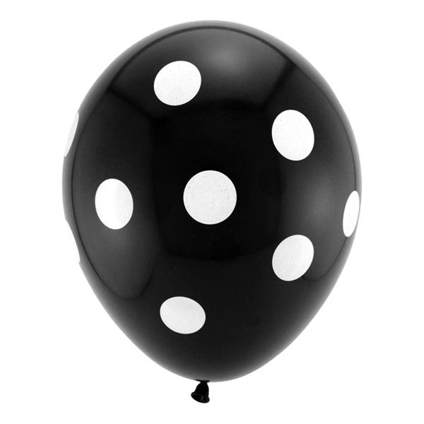 Prickiga Ballonger Svarta - 6-pack