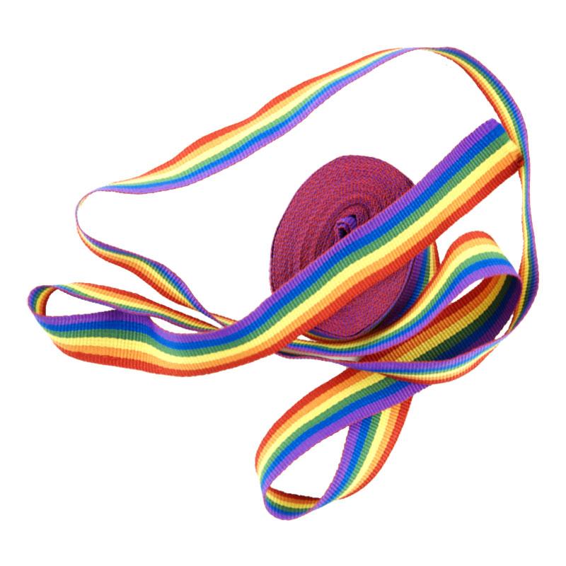 Pridefärgat Textilband