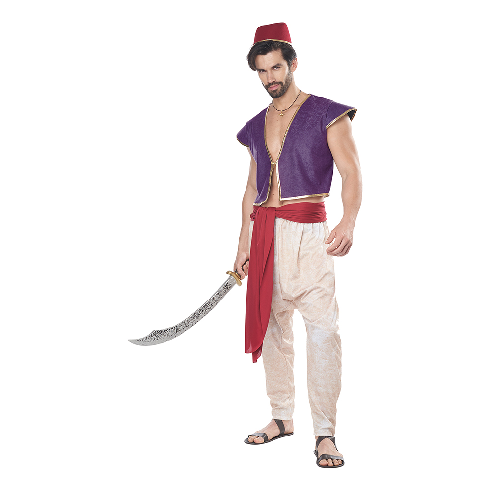 Prins Aladdin Maskeraddräkt - Small/Medium