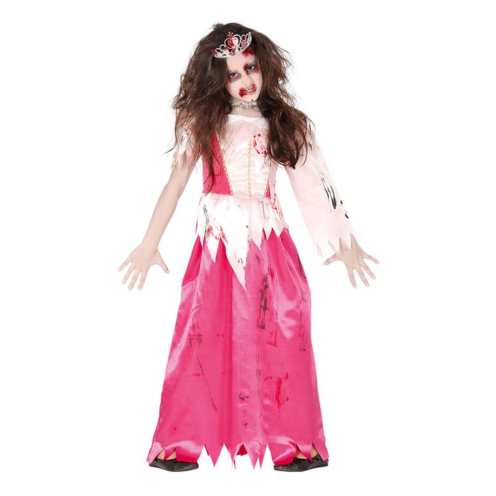 Prinsessa Zombie Barn Maskeraddräkt - Small