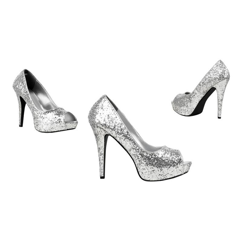 Pumps Glitter Silver - 37