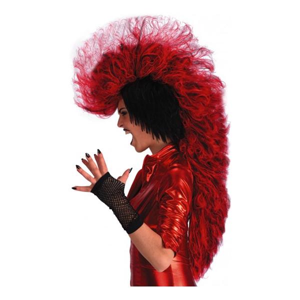 Punkare Röd Peruk - One size