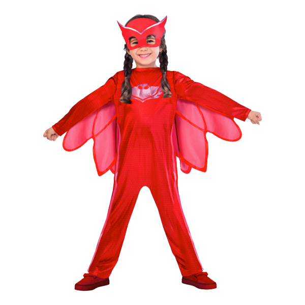 Pyjamashjältarna Ugglis Barn Maskeraddräkt - X-Small