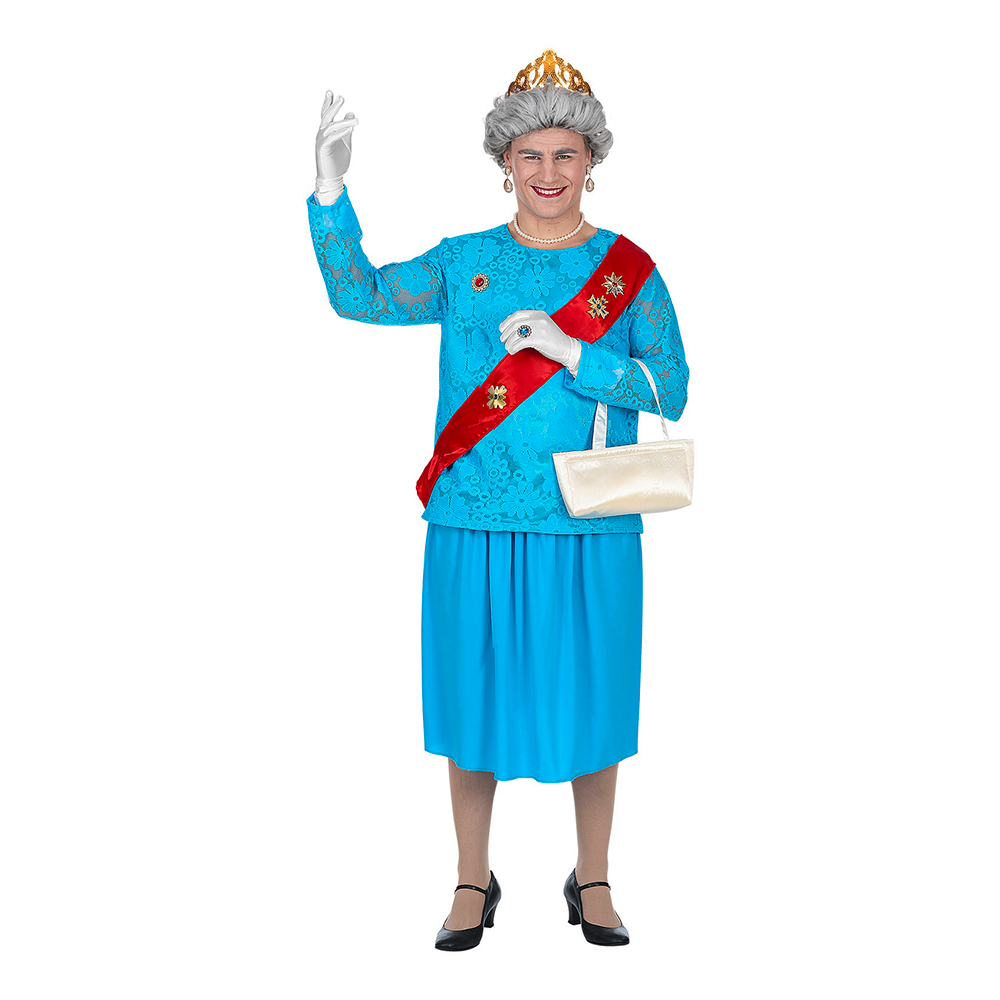 Manlig Queen Elizabeth Maskeraddräkt - Medium/Large
