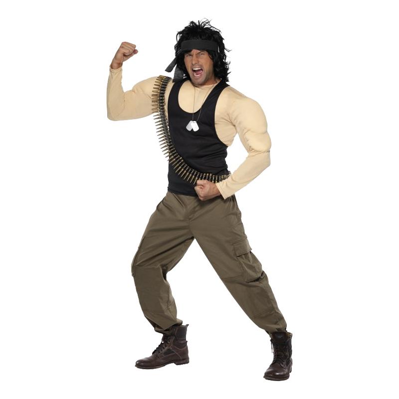 Rambo Maskeraddräkt - One size