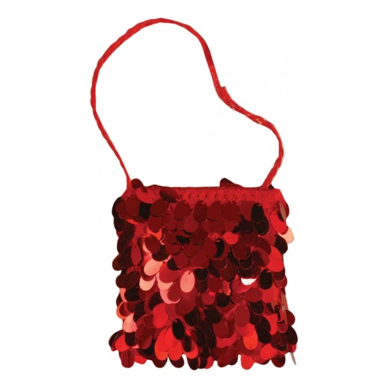 Röd Paljett Handväska