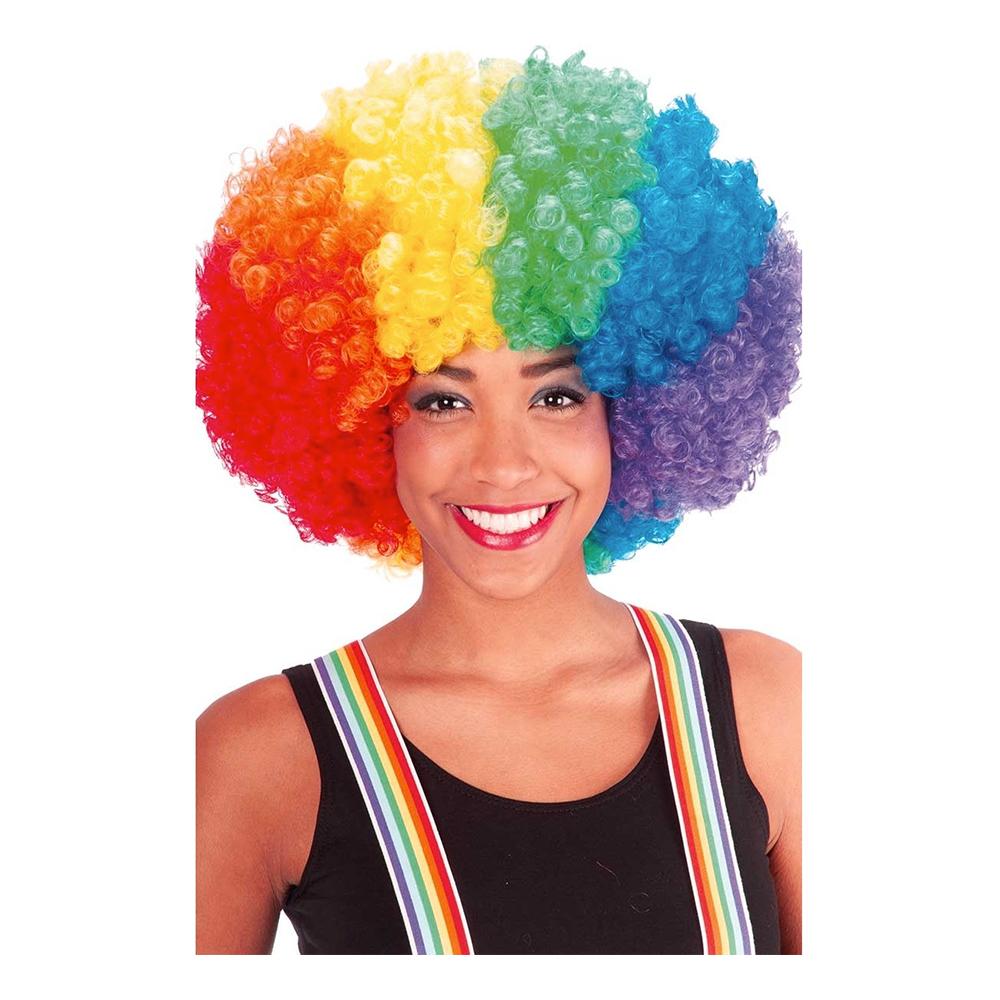 Regnbågsfärgad Afroperuk - One size