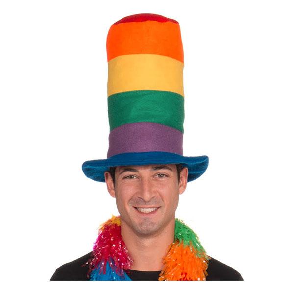 Regnbågsfärgad Hatt Extra Hög - One size