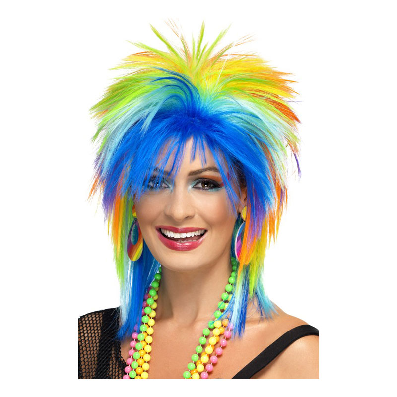 Regnbågsfärgad Punkperuk - One size