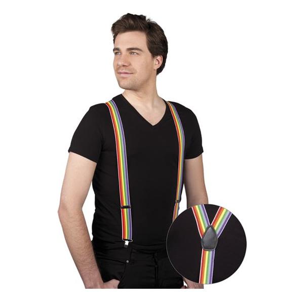 Regnbågsfärgade Hängslen - One size