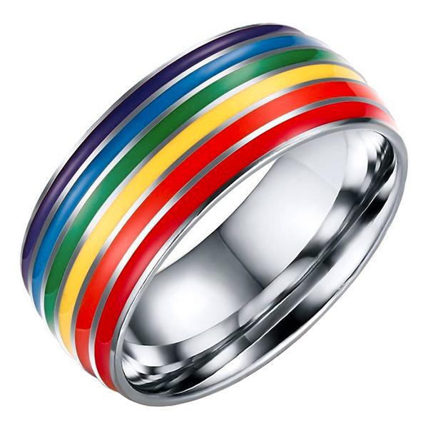 Regnbågsring Silverfärgad - 19,81 mm