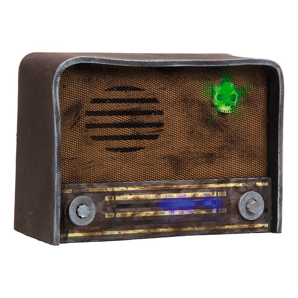 Läskig Retro Radio med Ljud & Ljus