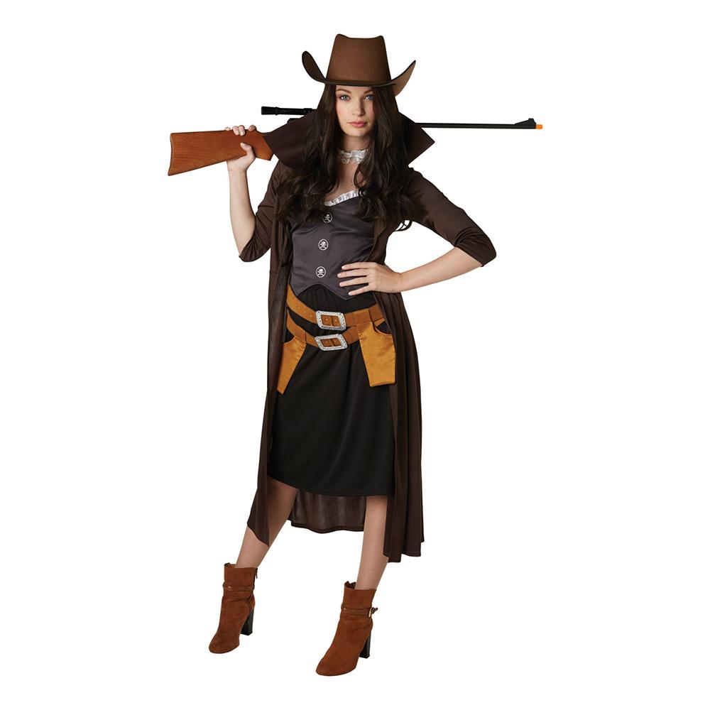 Maskeraddräkter - Revolverkvinna Maskeraddräkt - X-Small