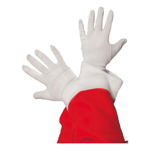 Vita Handskar Ribbade - Standard