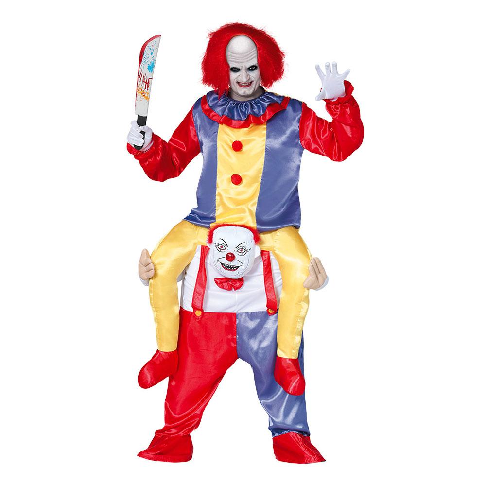 Ridande Clown Maskeraddräkt - Large