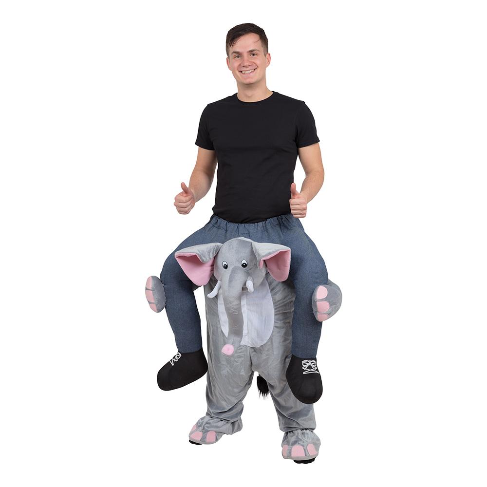 Ridande Elefant Maskeraddräkt - One size
