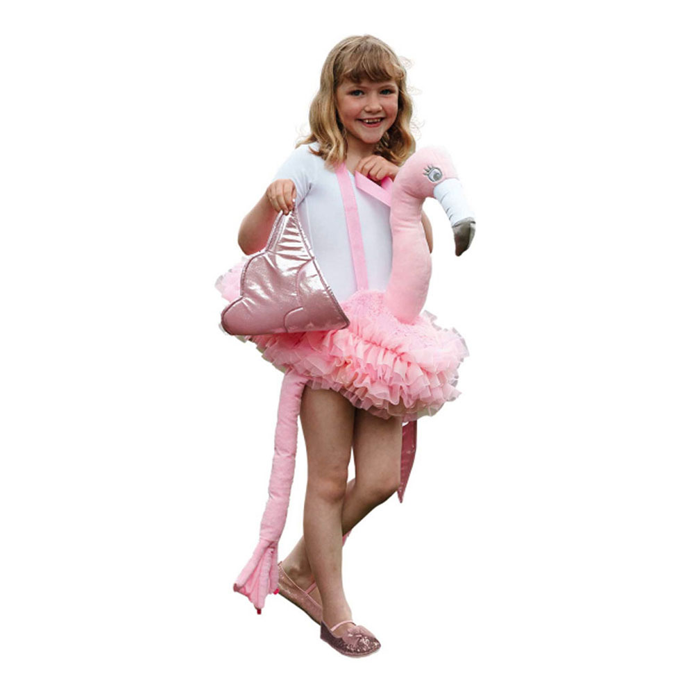 Ridande Flamingo Barn Maskeraddräkt - One size