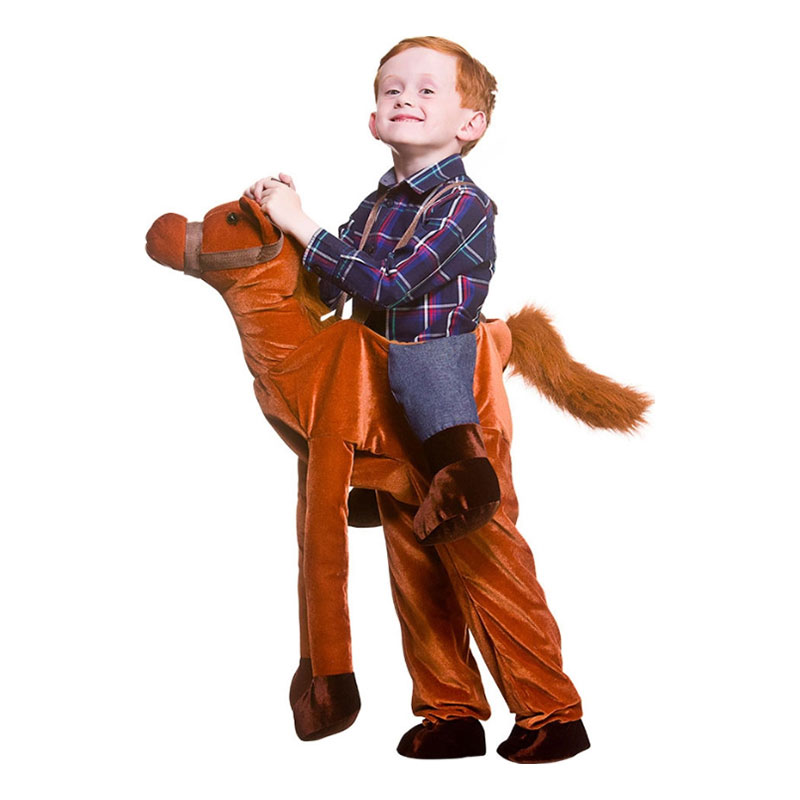Ridande Häst Brun Barn Maskeraddräkt - One size
